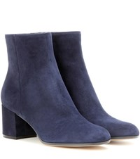 Gianvito Rossi Margaux Mid Suede Ankle Boots Blue