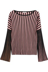 Kenzo Ribbed Stretch Knit Top Pink