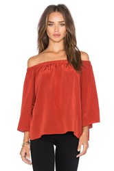 Amanda Uprichard Nirvana Off The Shoulder Top Rust