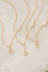 Anthropologie Mini Monogram Pendant Necklace Assorted