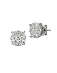 Morris And David Diamond 14K White Gold Stud Earrings