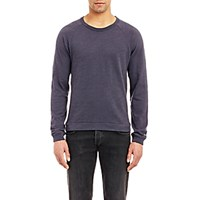 Rag And Bone Men's Long Sleeve Raglan T Shirt Navy