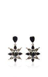 Oscar De La Renta Tropical Bloom Star C Earrings Black