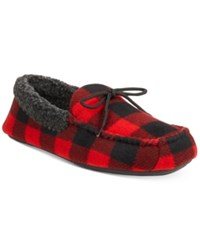 Club Room Men's Buffalo Plaid Moccasin Slippers Only At Macy's