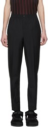 Alexander Wang Black Wool And Mohair Tailored Trousers