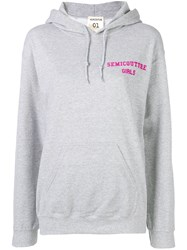 Semicouture Loose Fitted Sweatshirt Grey