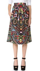 Holly Fulton Print Midi Skirt Multi Pinball