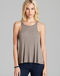 Free People Tank Rayon Slub Long Beach Grey