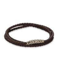 David Yurman Triple Wrap Ojime Chevron Bracelet Black Blue