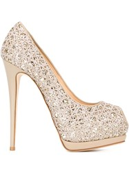 Giuseppe Zanotti Design Platform Pumps Nude And Neutrals