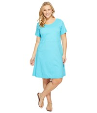 Fresh Produce Plus Size Sadie Dress Luna Turquoise Women's Dress Blue