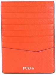 Furla Contrast Trim Cardholder Yellow Orange