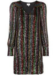 Milly Sequinned Mini Dress Black