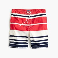 J.Crew 9 Board Short In Nautical Stripe