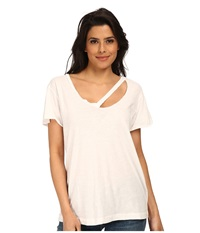 Lna Fallon V Neck Top White Women's Clothing