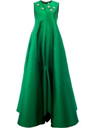 Maison Rabih Kayrouz Embellished Flared Gown Green