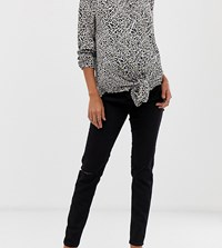 New Look Maternity Over Bump Knee Slash Jeggings In Black