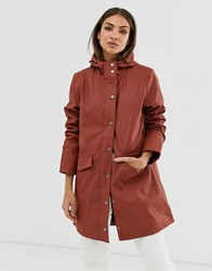 B.Young Hooded Lightweight Parka Red