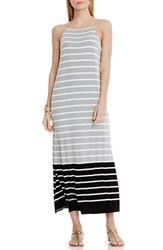 Vince Camuto Women's 'Magnet Stripe' Maxi Dress Light Heather Grey