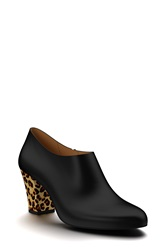 Shoes Of Prey Leather And Calf Hair Ankle Bootie Women Soft Black