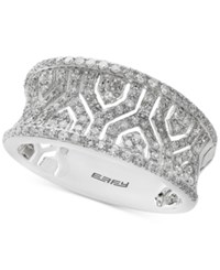 Effy Pave Classica By Diamond Band 1 2 Ct. T.W. In 14K White Gold