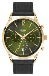 Henry London 'Chiswick' Chronograph Leather Strap Watch 41Mm