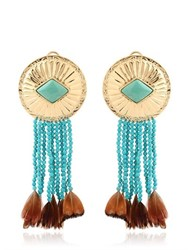 Aurelie Bidermann Navajo Turquoise Earrings
