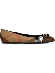 Burberry House Check Ballerinas Nude And Neutrals