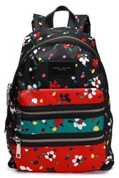 Marc Jacobs Woman Leather Trimmed Printed Canvas Backpack Black