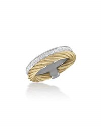 Alor Micro Cable Pave Diamond Double Band Ring 18Kt Wg