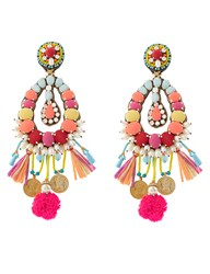 Ranjana Khan Multi Big Beaded Clip On Earrings