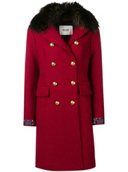Bazar Deluxe Double Buttoned Coat Red