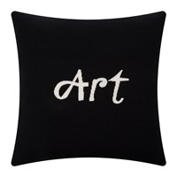 Bella Freud Art Cushion Black