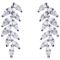 Ivory And Co. Marquise Cubic Zirconia Cluster Drop Earrings Silver