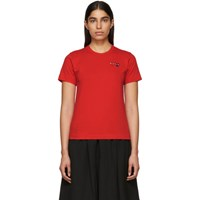 Comme Des Garcons Play Red Double Heart T Shirt