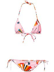Emilio Pucci Abstract Print Bikini Pink Purple