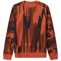 Mhi Maharishi Reversible Camo Crew Sweat Orange