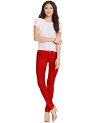 Celebrity Pink Jeans Juniors' Skinny Jeans Colored Wash Tango Red