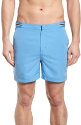 Fred Perry Tape Swim Shorts Utility Blue