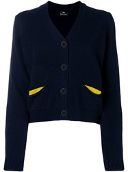 Paul Smith Ps By Flap Pocket Cardigan Blue