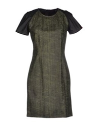 Mauro Gasperi Short Dresses Military Green