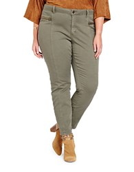 Addition Elle Love And Legend Plus Size Seamed Cargo Pants Moss Green