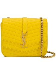 Saint Laurent Small Sulpice Shoulder Bag Yellow