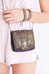 Ecote Embellished Small Shoulder Bag Black