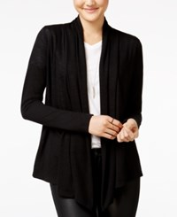 Amy Byer Bcx Juniors' Open Front Waterfall Cardigan Black