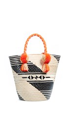 Yosuzi Dani Tote Bag Orange Multi