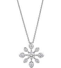 De Beers Star 18Ct White Gold And Diamond Pendant