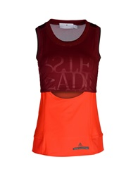Adidas By Stella Mccartney Tank Tops Maroon