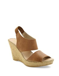 Andre Assous Reese Suede Platform Wedge Sandals Cuero