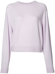 Vince Crew Neck Jumper Pink Purple
